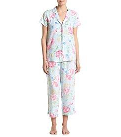Miss Elaine® Floral Pajama Set