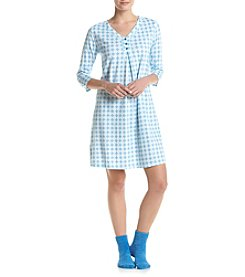 Intimate Essentials® Geo Print Sleepshirt With Socks