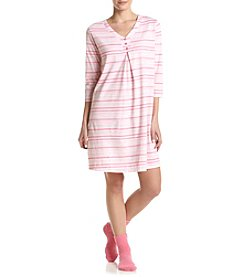 Intimate Essentials® Stripe Sleepshirt With Socks