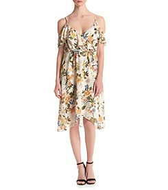 June & Hudson® Floral Ruffle Front Dress