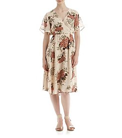 June & Hudson® Floral Wrap Dress