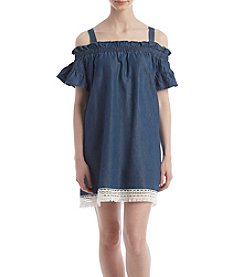 Trixxi® Off-Shoulder Denim Dress