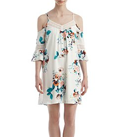 My Michelle® Floral Cold Shoulder Dress