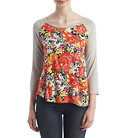 Eyeshadow® Floral Football Tee