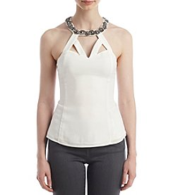 XOXO® Embellished Strap Halter Top