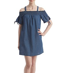 Hippie Laundry Off-Shoulder Denim Dress