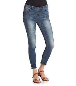 Hippie Laundry Fray Hem Ankle Jeans