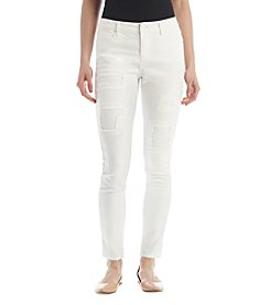 Hippie Laundry Destructed Roll Cuff Ankle Jeans
