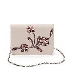La Regale® Floral Beaded Small Flap Crossbody