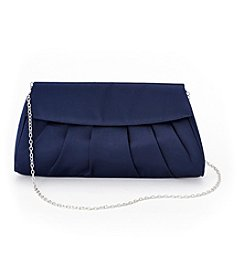 La Regale® Satin Pleated Body Clutch