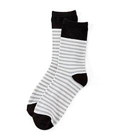 Relativity® Tipped Stripe Crew Socks