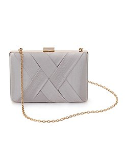 La Regale® Basketweave Minaudiere Clutch