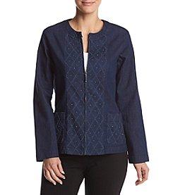 Alfred Dunner® Diamond Texture Jacket