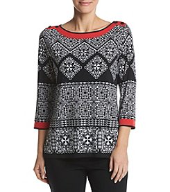 Alfred Dunner® Tile Tunic Knit Top