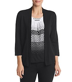 Alfred Dunner® Medallion Layered Look Sweater