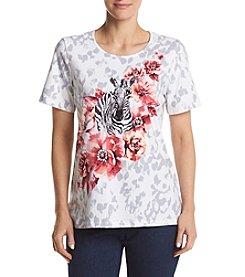 Alfred Dunner® Zebra Print Knit Tee