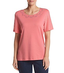 Alfred Dunner® Lace Knit Tee