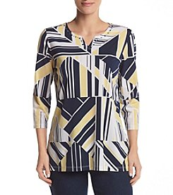 Alfred Dunner® Geometric Knit Tunic Top
