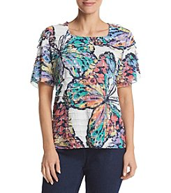 Alfred Dunner® Butterfly Tiered Blouse
