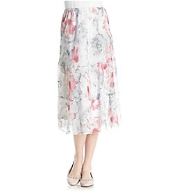 Alfred Dunner® Scroll Floral Tiered Skirt