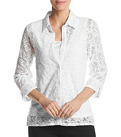 Alfred Dunner® Roll Tab Lace Top