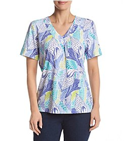 Alfred Dunner® Seashell Print Knit Top
