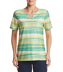 Alfred Dunner® Texture Stripe Knit Top