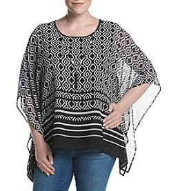 Alfred Dunner® Plus Size Flutter Sleeve Woven Top