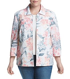 Alfred Dunner® Plus Size Rose Hill Floral Print Jacket