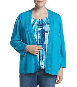 Alfred Dunner® Plus Size Scenic Route Layered Look Sweater