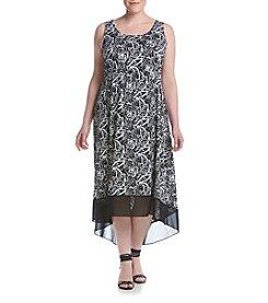 Studio Works® Plus Size Print High-Low Dress With Chiffon Hem