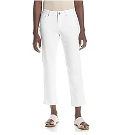 Earl Jean® Petites' Embellished Denim Capri Pants