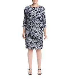 Jessica Howard® Plus Size Side Tuck Paisley Dress