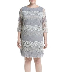 Jessica Howard® Plus Size Lace Shift Dress