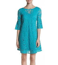 Gabby Skye® Lace Illusion Dress