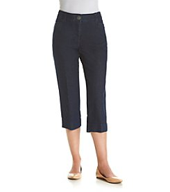 Studio Works® Petites' Denim No Gap Twill Crop Pants