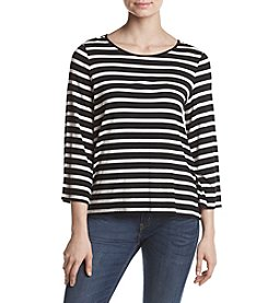 G.H. Bass & Co. Stripe Knit Top