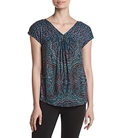 Lucky Brand® Paisley Shell Top