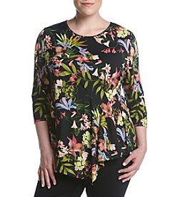 Relativity® Plus Size Asymmetrical Top