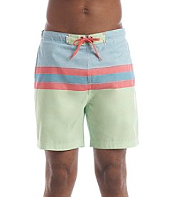 Le Tigre Men's Printed Stripe Swim Shorts