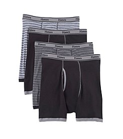 Hanes® Men's Blue Label Stripe Boxer Briefs