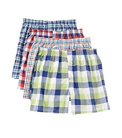 Hanes® Men's Blue Label Woven Plaid Boxers