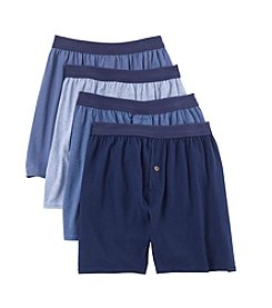 Hanes® Men's Blue Label Knit Boxers