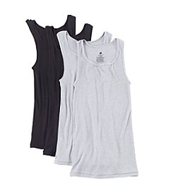 Hanes® Men's Blue Label Comfort Crew Neck 4-Pack Tank Tops