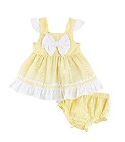 Cuddle Bear® Baby Girls' Seersucker Dress Set
