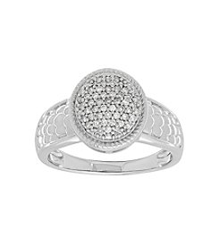 Sterling Silver 0.25 Ct . T.W. Dome Ring