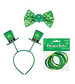 St. Patrick's Day Top Hat Headband, Bowtie & Bracelets Accessory Bundle