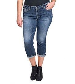 Silver Jeans Co. Plus Size Cuffed Capri Jeans