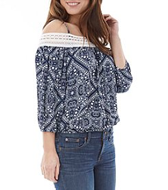 A. Byer Off-Shoulder Peasant Top