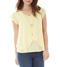 A. Byer Sheer Overlay Top